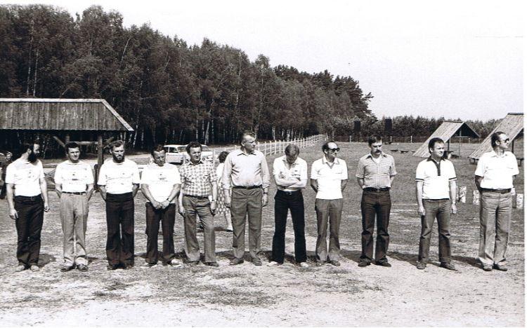 Czerwiec 1980: Otwarcie domku myśliwskiego i okolicznościowe zawody strzeleckie